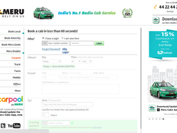 Meru Cabs screenshot