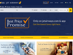 Jet Airways screenshot
