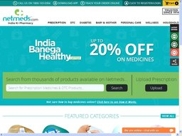 Netmeds screenshot
