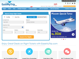 EaseMyTrip screenshot